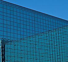 Blue grid morning by mypic
