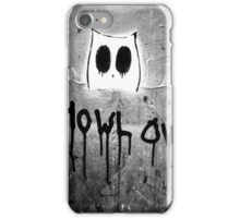 Howl Owl black and white graffiti iPhone Case/Skin