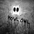 Howl Owl black and white graffiti by eyeshoot