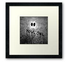 Howl Owl black and white graffiti Framed Print