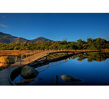Bridge over calm waters Photographic Print