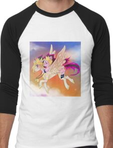 Yu-Gi-Oh!+My little pony sunset Men's Baseball ¾ T-Shirt