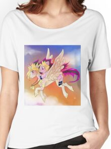 Yu-Gi-Oh!+My little pony sunset Women's Relaxed Fit T-Shirt