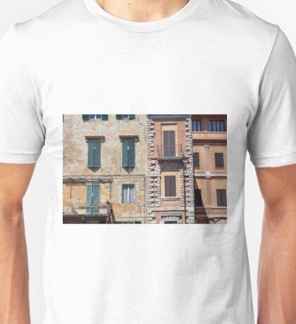 Italian building facade with decorative windows Unisex T-Shirt