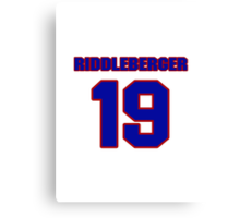 National baseball player Denny Riddleberger jersey 19 Canvas Print