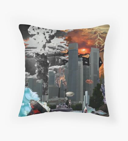 """my vision of """"Infinite Future Chaos"""". Throw Pillow"""