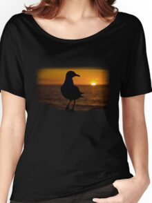 Seagull Sunset Women's Relaxed Fit T-Shirt