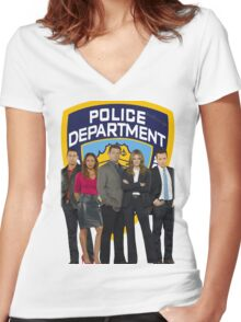 12th Precinct Team Women's Fitted V-Neck T-Shirt