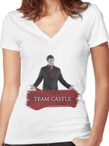 Team Castle Women's Fitted V-Neck T-Shirt