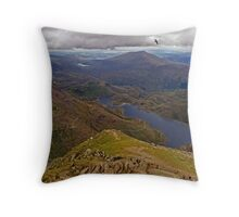 Top of the World - Snowdon - Wales  Throw Pillow