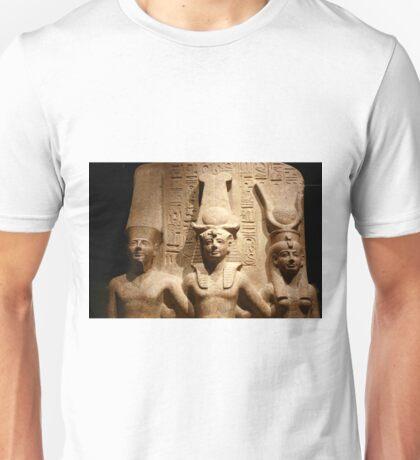 Ramses II with Amun and Hathor Unisex T-Shirt