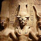Ramses II with Amun and Hathor by annalisa bianchetti