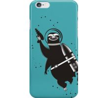 Outer space sloth rocket ray gun iPhone Case/Skin