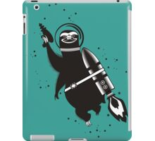 Outer space sloth rocket ray gun iPad Case/Skin