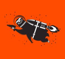 Outer space sloth rocket ray gun Kids Tee
