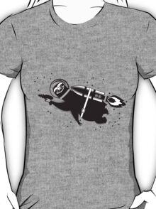 Outer space sloth rocket ray gun T-Shirt