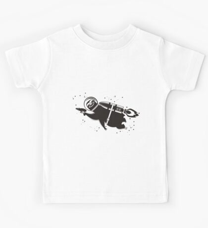 Outer space sloth rocket ray gun Kids Tee