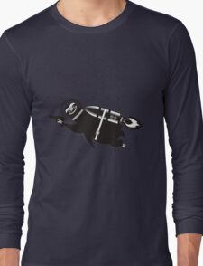 Outer space sloth rocket ray gun Long Sleeve T-Shirt