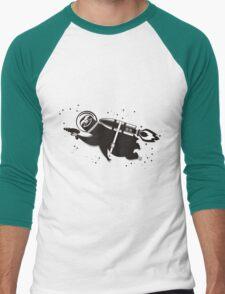 Outer space sloth rocket ray gun Men's Baseball ¾ T-Shirt