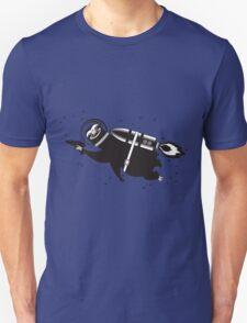 Outer space sloth rocket ray gun T-Shirt