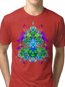 Psychedelic Trance inspired Tri-blend T-Shirt