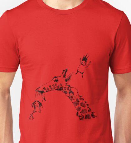Giraffe Jump Unisex T-Shirt