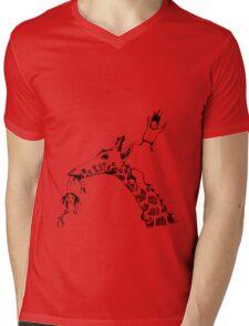 Giraffe Jump Mens V-Neck T-Shirt