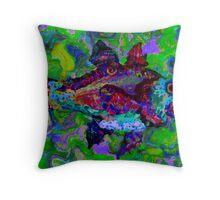 Batik Fish 2 Throw Pillow