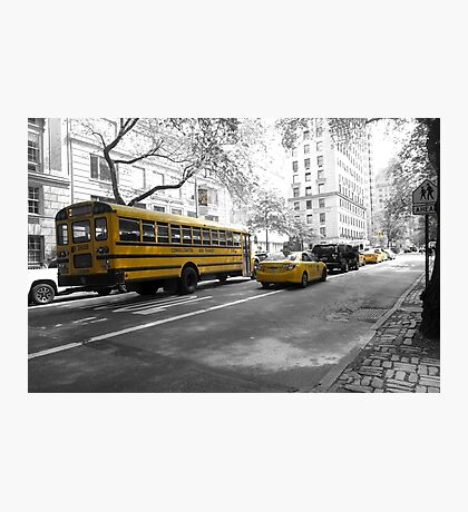 YELLOW TRAFFIC NEW YORK CITY Photographic Print