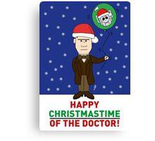 Doctor Who Xmas Card Canvas Print