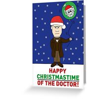 Doctor Who Xmas Card Greeting Card