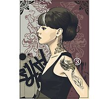 Girl with Tattoos 003 Photographic Print