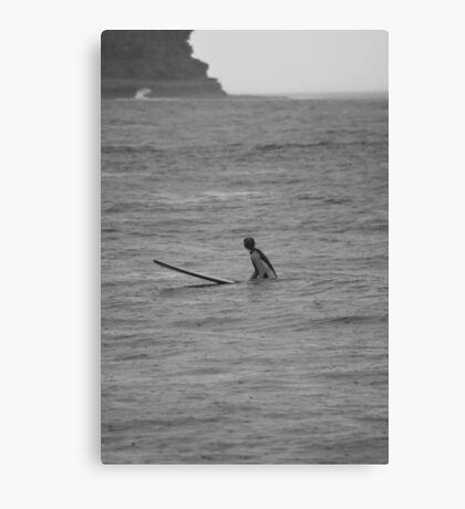 Waiting for a wave Canvas Print