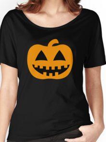Happy Jack-O-Lantern Pumpkin Women's Relaxed Fit T-Shirt