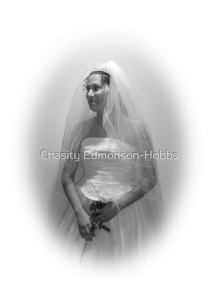 Bride in black & white by Chasity Edmonson-Hobbs