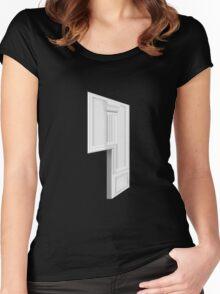 Glitch Homes Wallpaper whitepillar molding left divide Women's Fitted Scoop T-Shirt