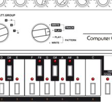 Tb-303 Bass-Line Tribute Sticker