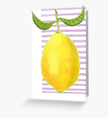 L is for Lemon Greeting Card