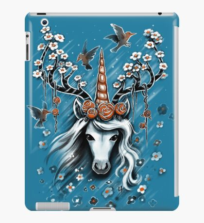 Deer Unicorn Flowers iPad Case/Skin