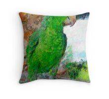 Parrot 3 Throw Pillow