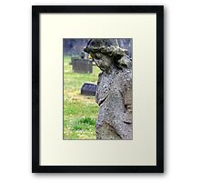 And now I lay me down to rest... Framed Print