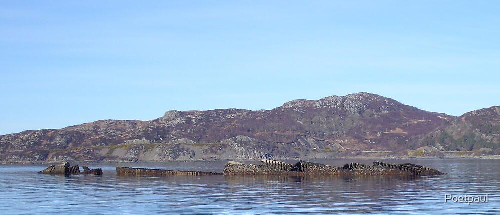 Wreck in  Lochalsh by Poetpaul