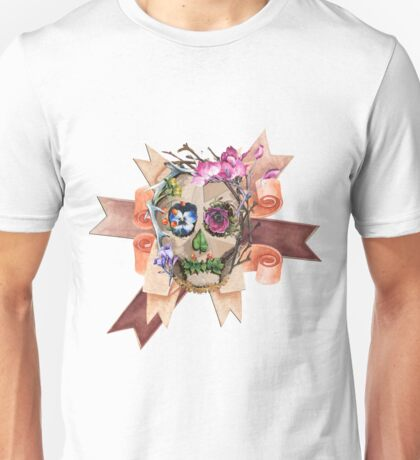 Skull and Ribbons Unisex T-Shirt