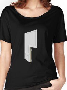 Glitch Homes Wallpaper whitepillar molding right divide Women's Relaxed Fit T-Shirt