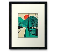 Twin Peaks Travel Poster Framed Print