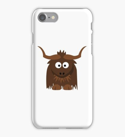 Funny Cute Cartoon Buffalo Character Animal - T Shirts And Gifts Design iPhone Case/Skin