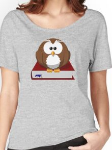 Graduate Owl Book Cartoon - Funny Education School College Graduation Student T Shirts And Gifts  Women's Relaxed Fit T-Shirt