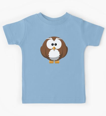 Cute Funny Cartoon Silly Owl Character Doodle T Shirts And Gifts Kids Tee