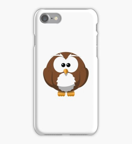 Cute Funny Cartoon Silly Owl Character Doodle T Shirts And Gifts iPhone Case/Skin
