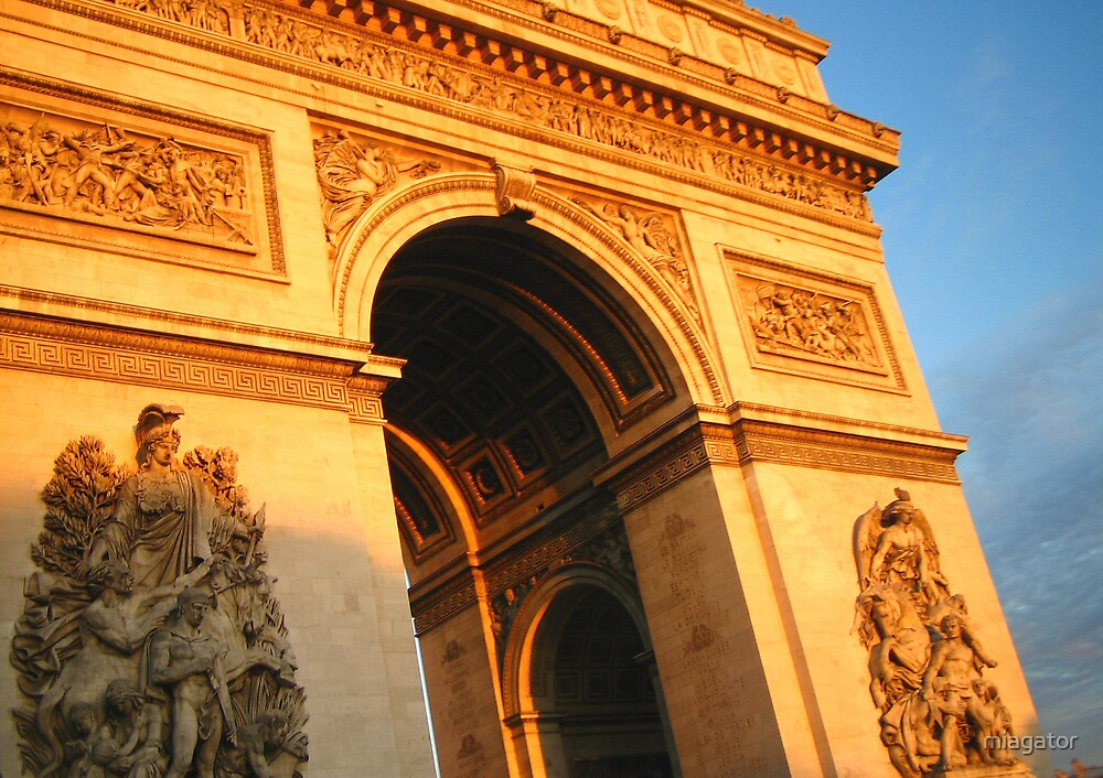 Golden Hour and the Arc de Triomphe :: Paris by miagator